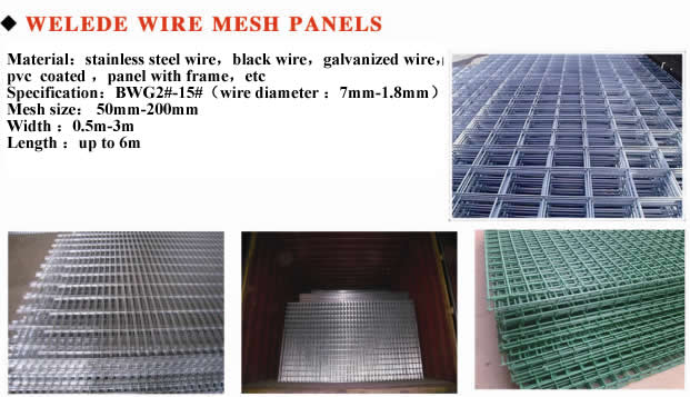 Welded Wire Mesh Panels   Anping Wande Wire Mesh Products Co.,Ltd